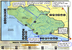 Corcovado map