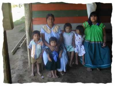 Poblaci�n ind�gena en  Costa Rica